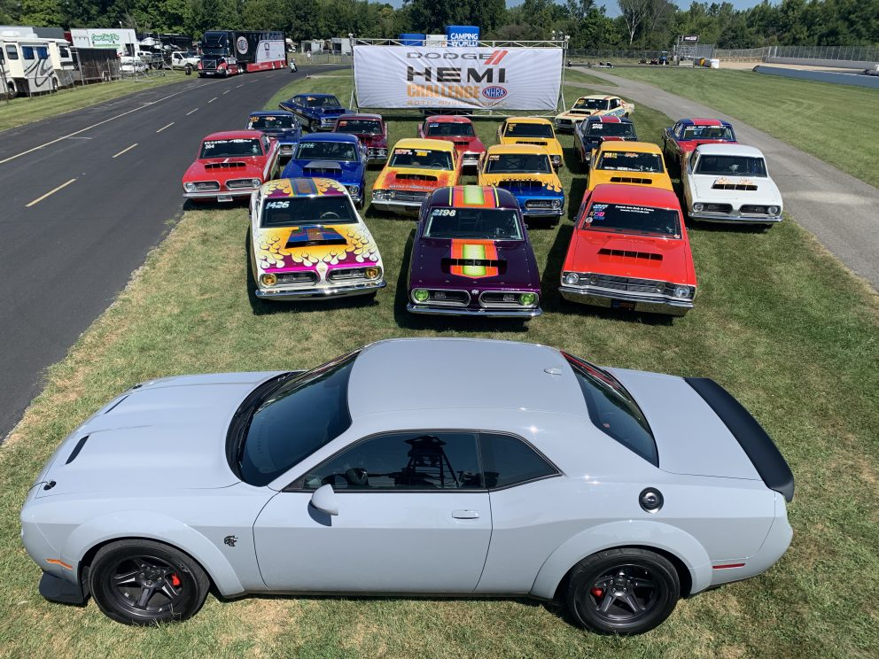 Car racing in the HEMI Shootout
