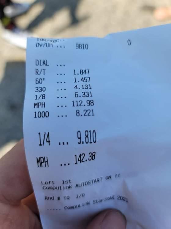 Time slip for Durango SRT Hellcat
