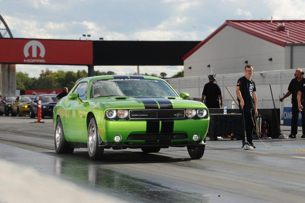 Challenger drag racing at NMCA