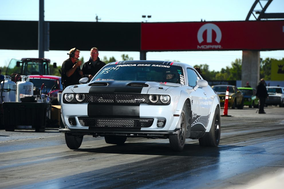 Charger drag racing at NMCA