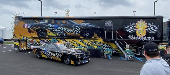 Kevin Helmick's car and trailer