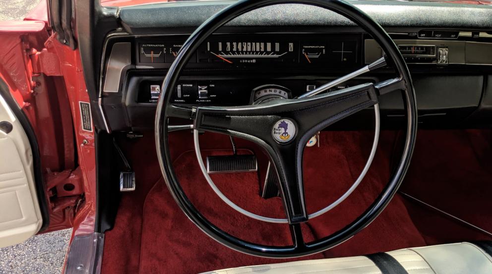 1969 Plymouth Satellite Convertible interior