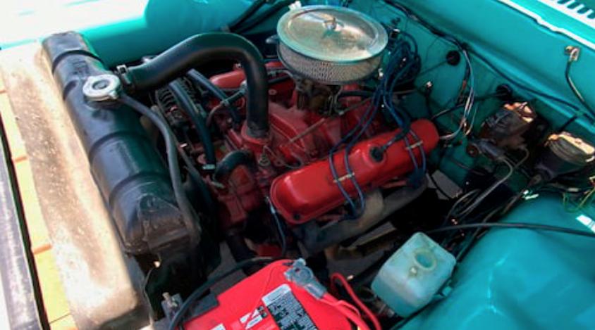 1967 Dodge D100 Power Wagon Pickup engine