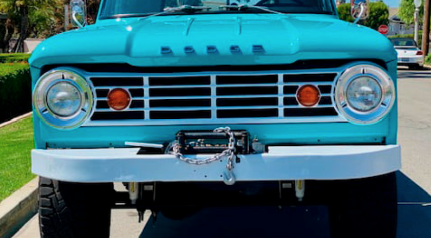 1967 Dodge D100 Power Wagon Pickup front end