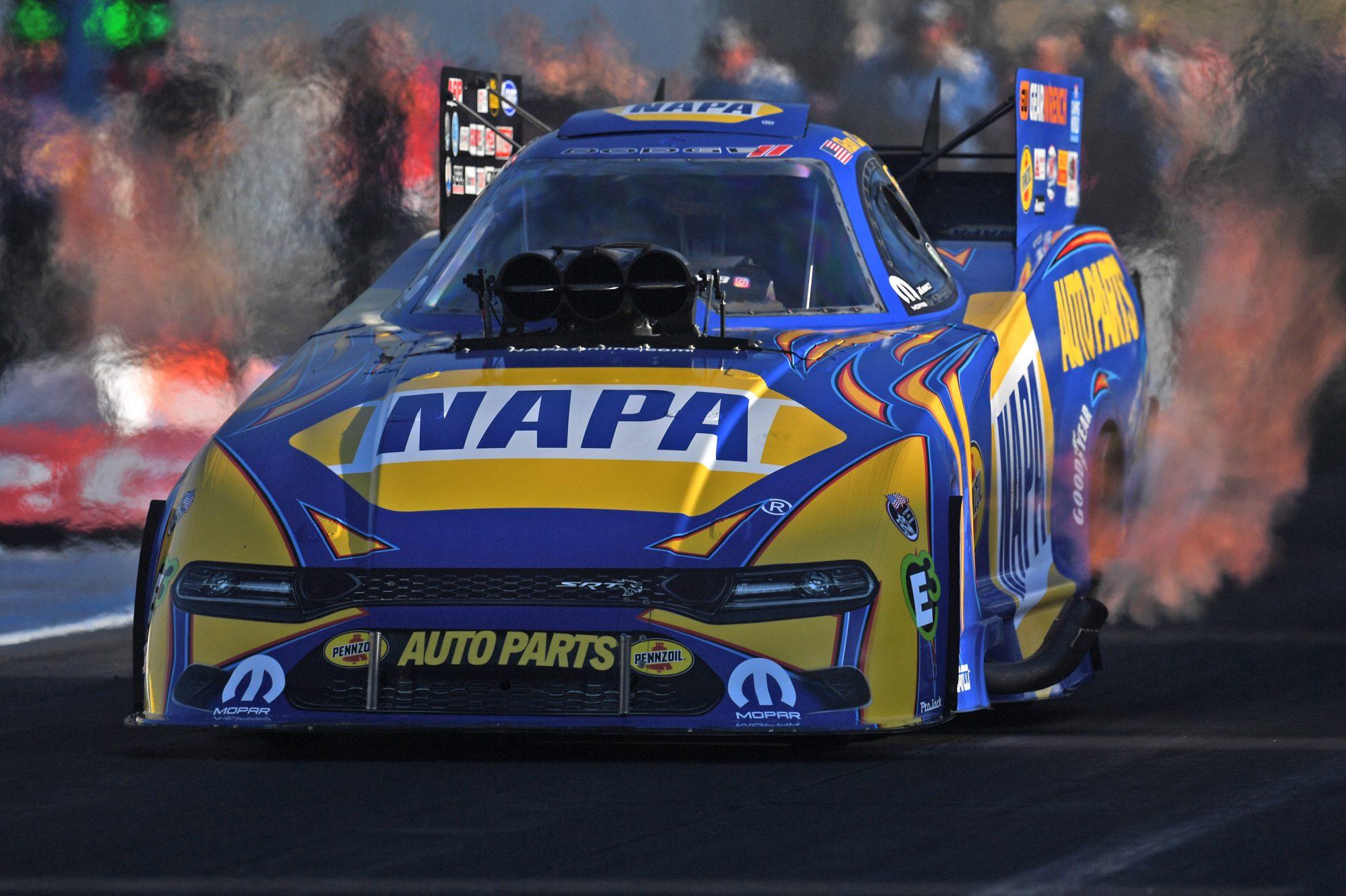 Ron Capps drag racing
