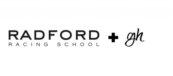 Radford Racing School and Gabriel Hernandez logos